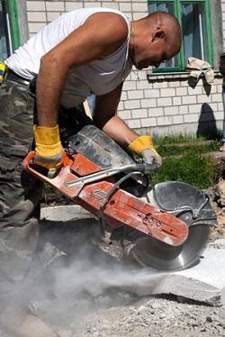 man,concrete,cutting,motor,saw